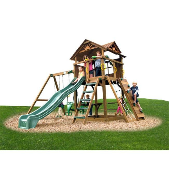 Play Time Stockbridge Series Swing Set with Rope Accessories