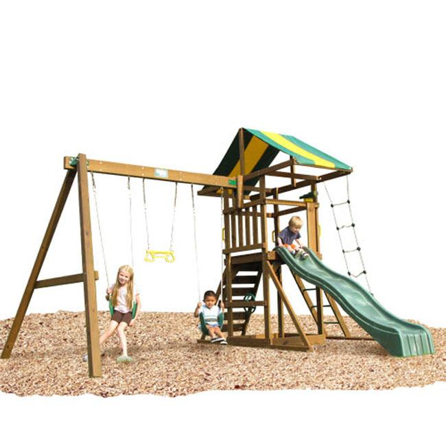 Play Time Franklin Swing Set, with Chained Accessories