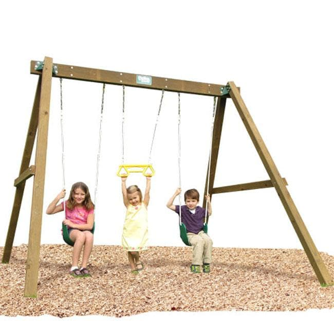 Play Time Classic Series Swing Set with Chain Accessories