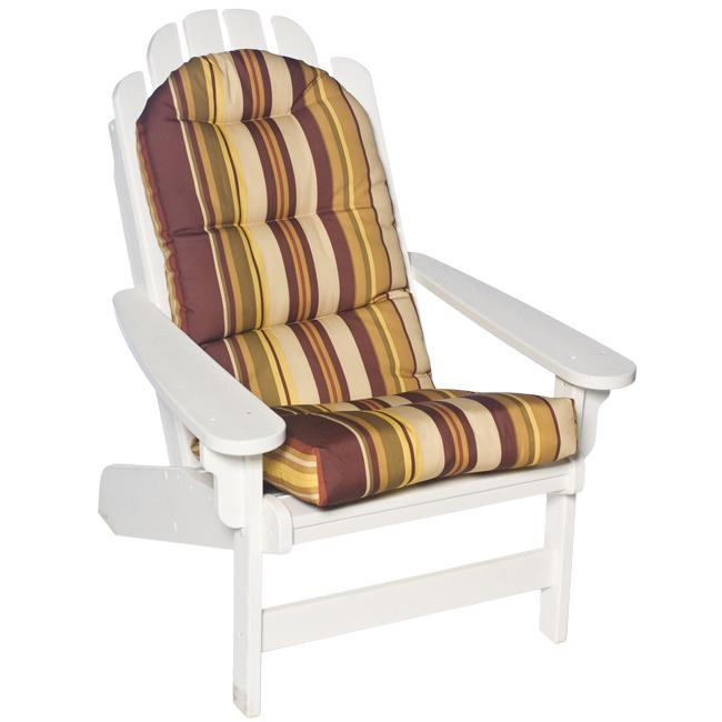 Bella Adirondack All Weather Brown And Olive Stripe Patio