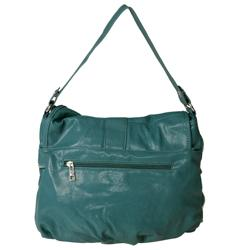 Journee Collection Women's Faux Leather Ruffle Accent Hobo Bag - Thumbnail 1