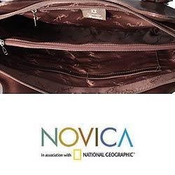 Leather 'Peruvian Braids' Shoulder Bag (Peru) - Thumbnail 2
