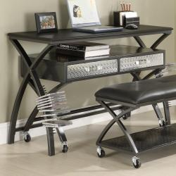 Carter Workstation and Computer Desks with 2-seater Bench