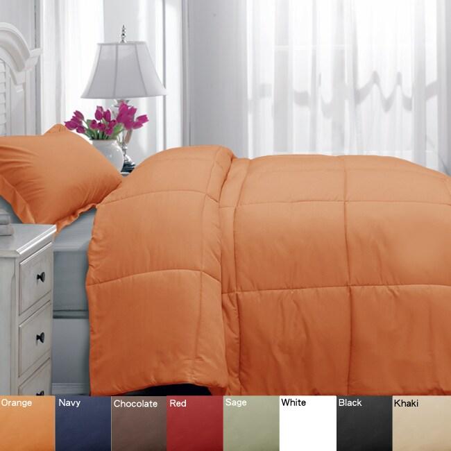 Microfiber Down Alternative Twin XL-size Comforter and Sham Set