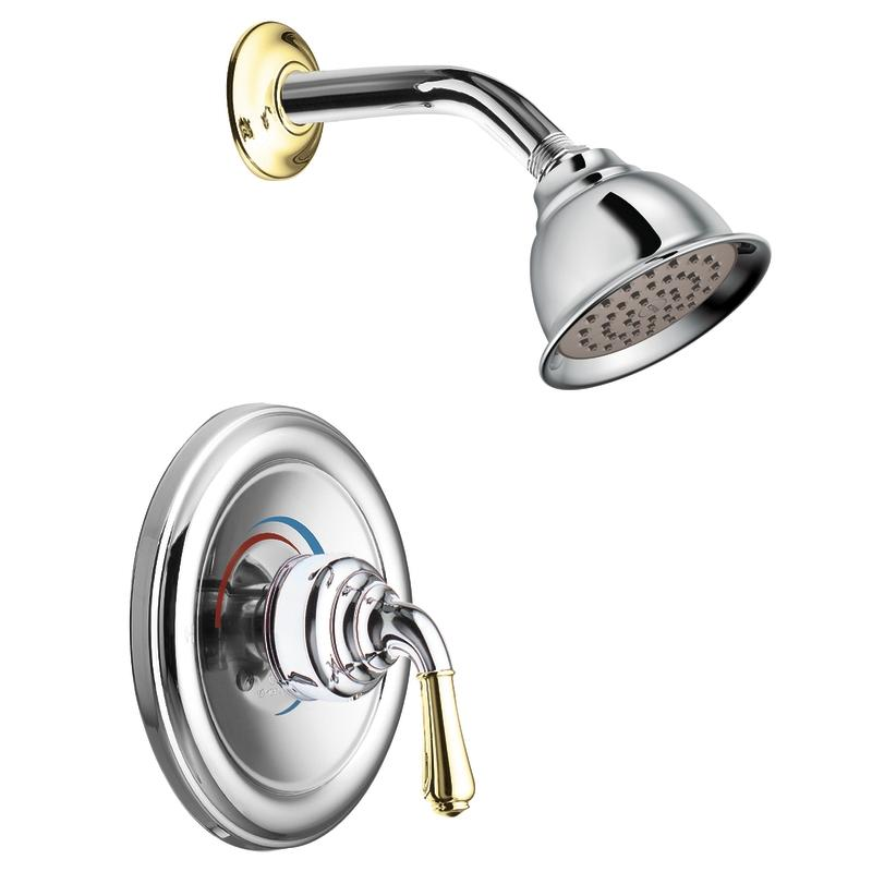 Moen Chrome/Polished Brass Posi-Temp Shower Only