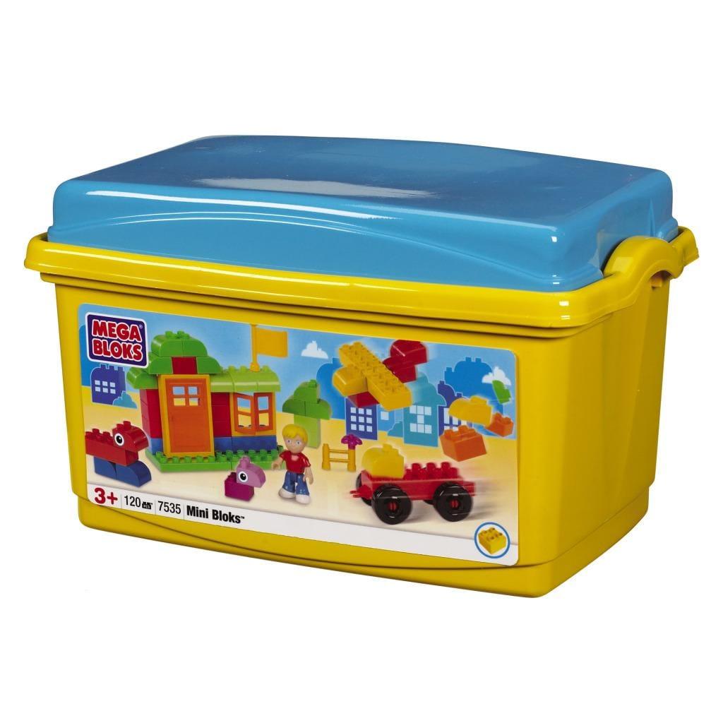 Mega Bloks Mini Bloks 120-piece Tub Toy Set - Thumbnail 1