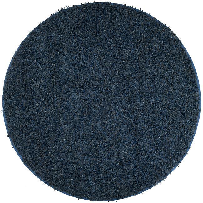 Hand-woven Belhaven Natural Fiber Jute Shag Rug (8' Round)
