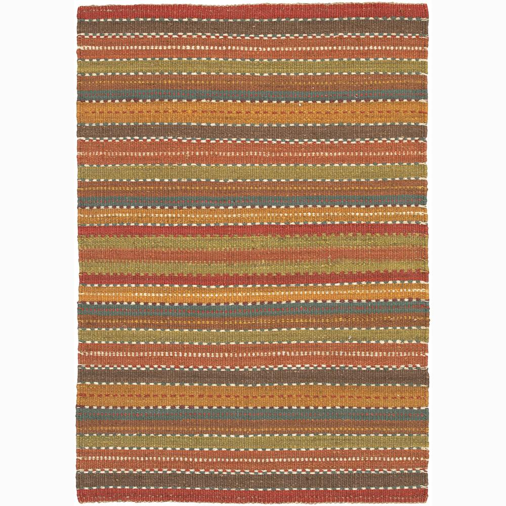 Hand-woven Mandara Natural Living Jute Stripe Rug (3'6 x 5'6)