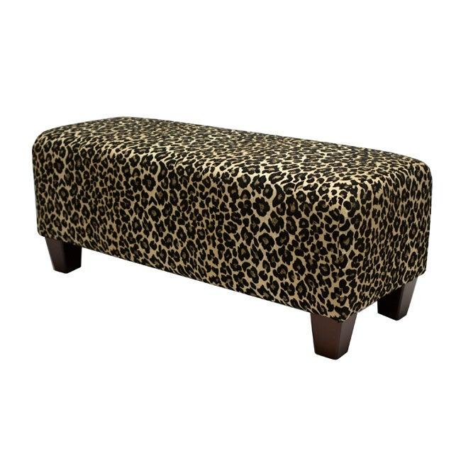 Ethan Black Leopard Bench