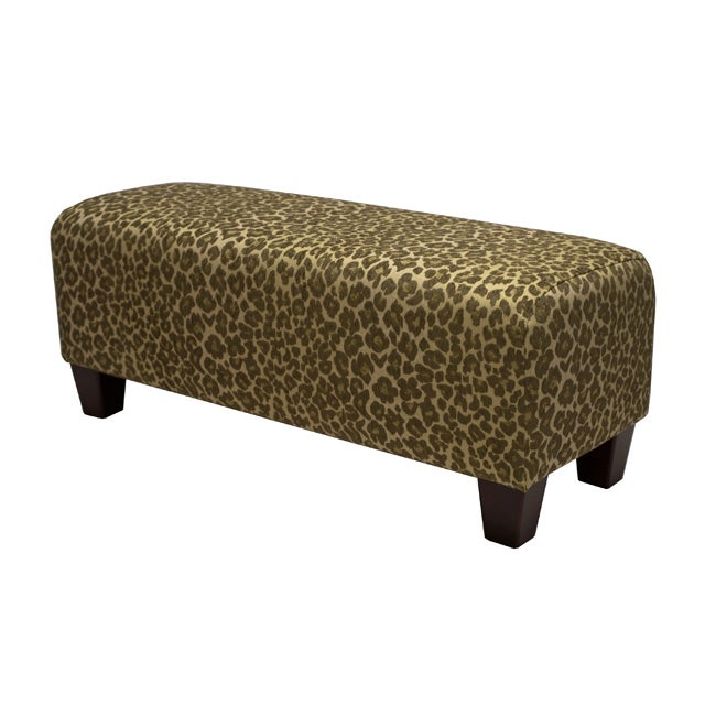 Ethan Sage Green Leopard Bench Free Shipping Today 13672322