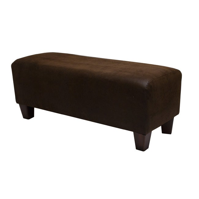 Ethan Saddle Brown Faux Leather Bench