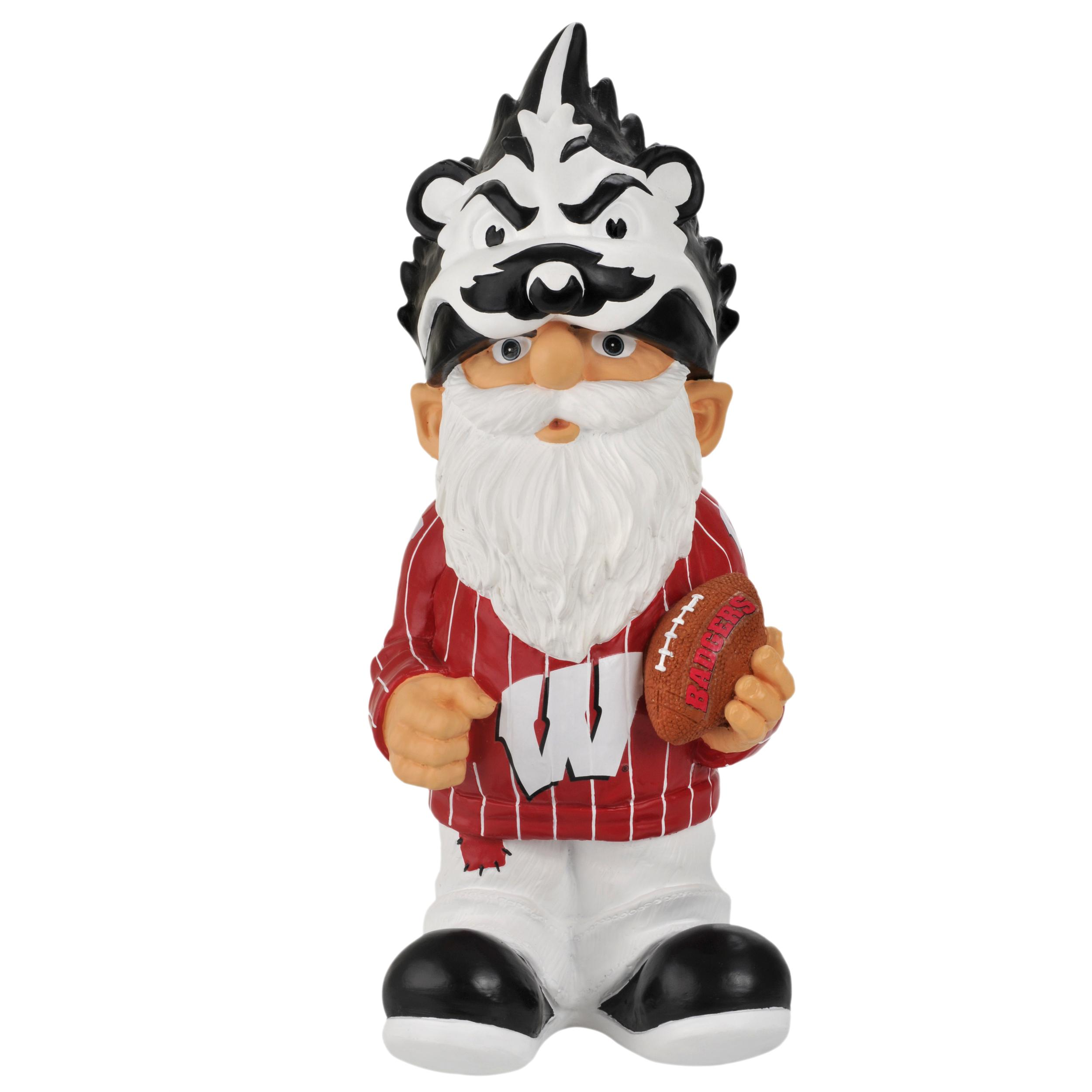 Wisconsin Badgers 11-inch Thematic Garden Gnome - Thumbnail 1
