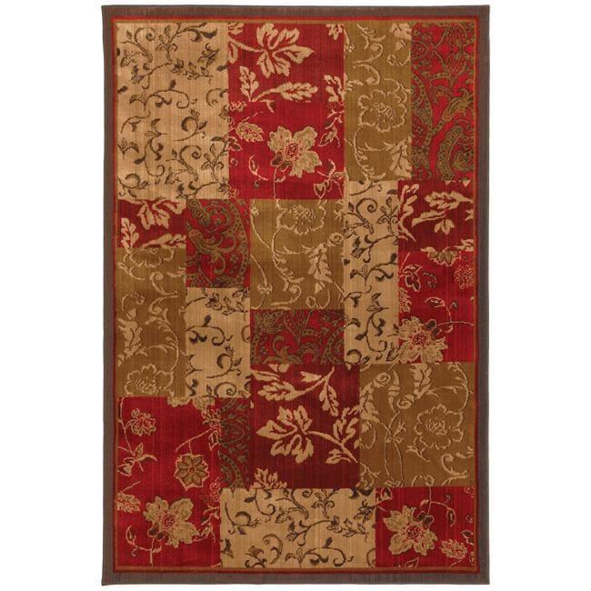 Patchwork Brocade Brown Rug (8' x 11')