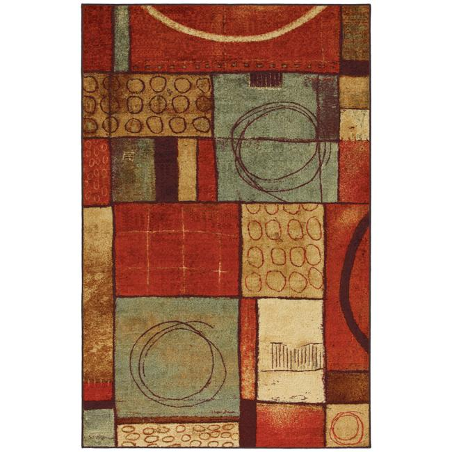 Loose Ends Red Abstract Rug (8' x 10')