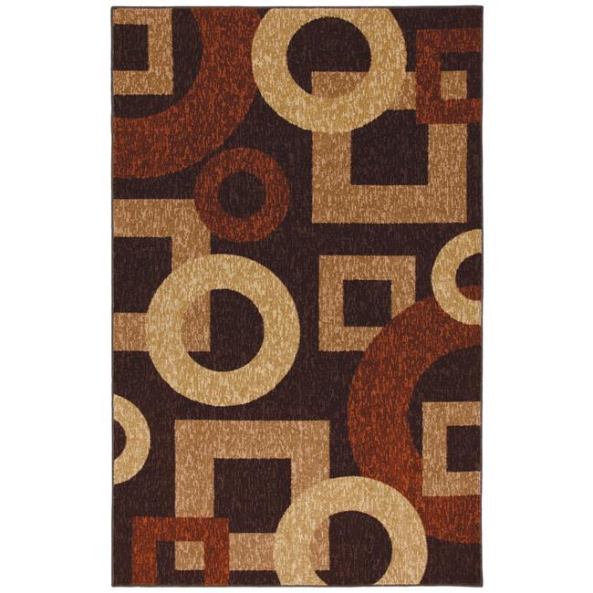 Barton Brown/ Ivory Shapes Rug (8' x 10')