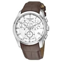 Tissot Men's 'T-Trend Couturier' Silver Face Chronograph Watch