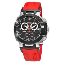 Tissot Men's 'T-Sport T-Race' Red Rubber Strap Chronograph Watch