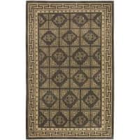 Hand-knotted Delgado Wool Area Rug (8' x 11') - 8' x 11'
