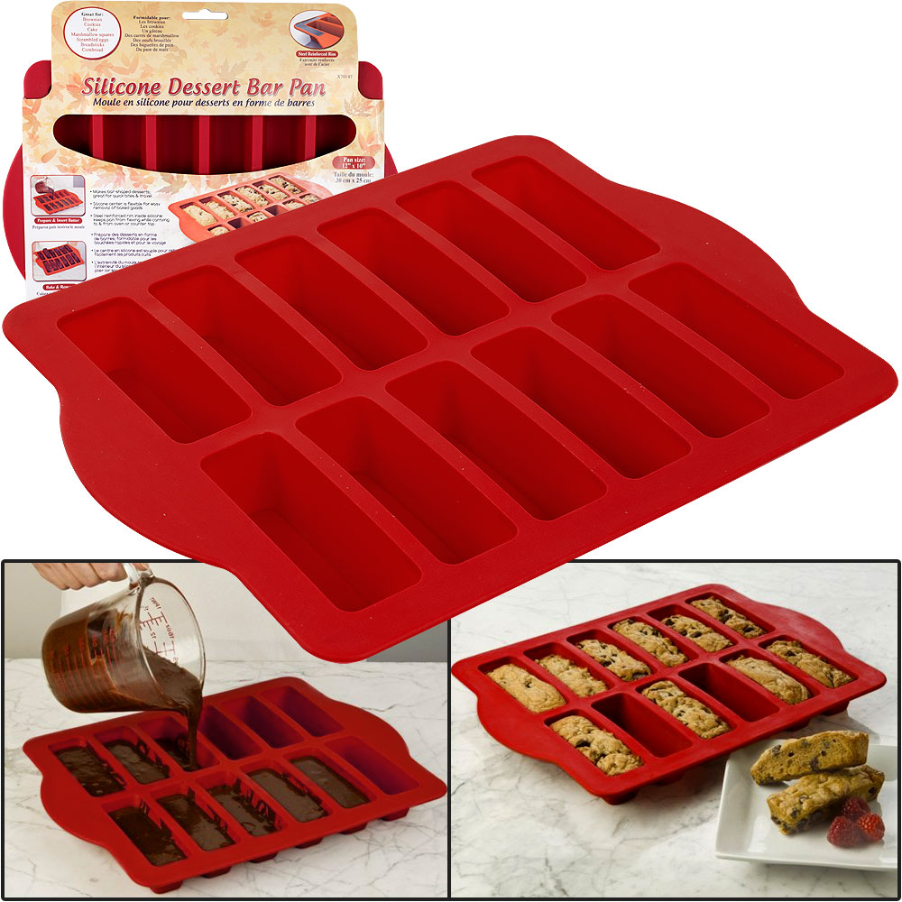 Steel Reinforced Silicone Dessert Bar Pan Free Shipping