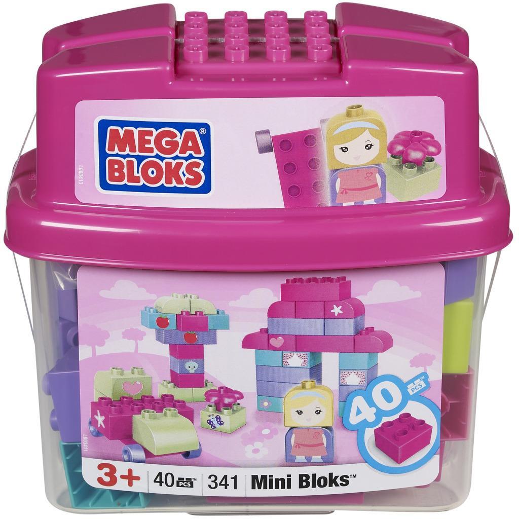 Mega Bloks 40-piece Pink Tub Toy Set
