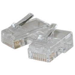 C2G RJ45 Cat5 8x8 Modular Plug for Flat Stranded Cable - 50pk