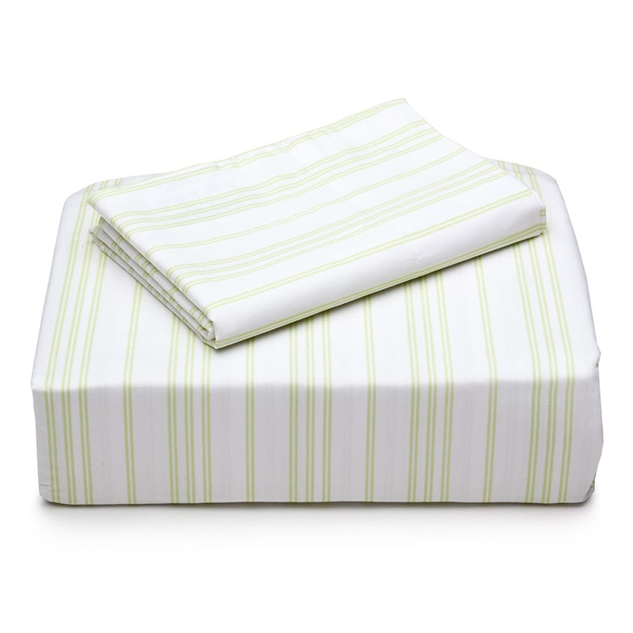 Laura Ashley Cotton Percale 300 Thread Count Twin Sheet Set