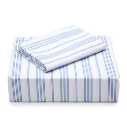 Laura Ashley Cotton Percale 300 Thread Count Twin Sheet Set - Thumbnail 1