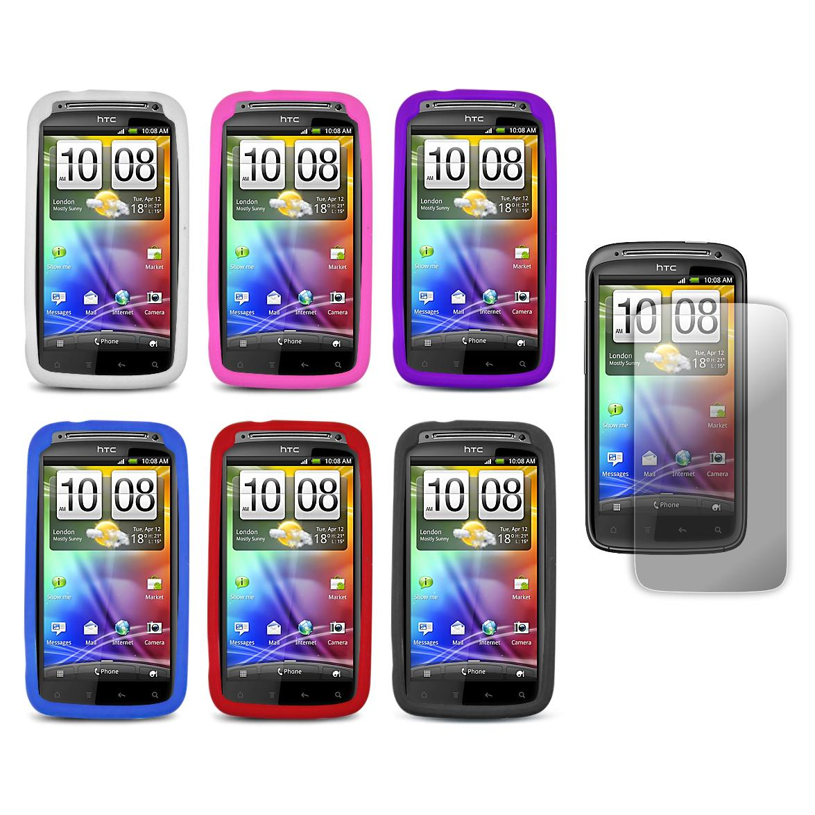 Premium HTC Sensation 4G Silicone Case with Screen Protector