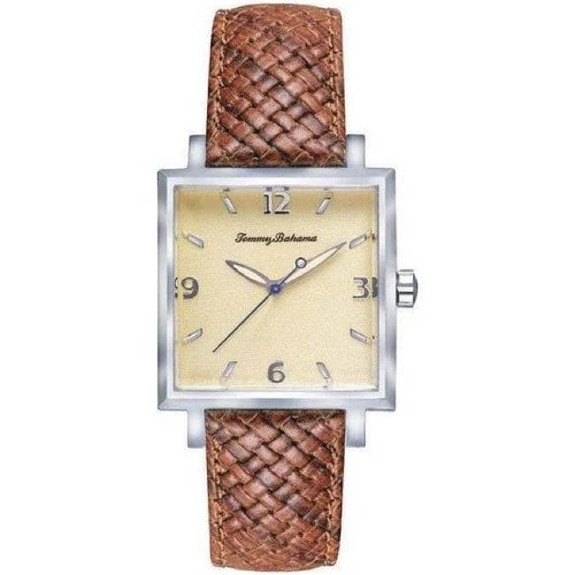 Tommy Bahama Men S Island Heritage Silver Palm Watch
