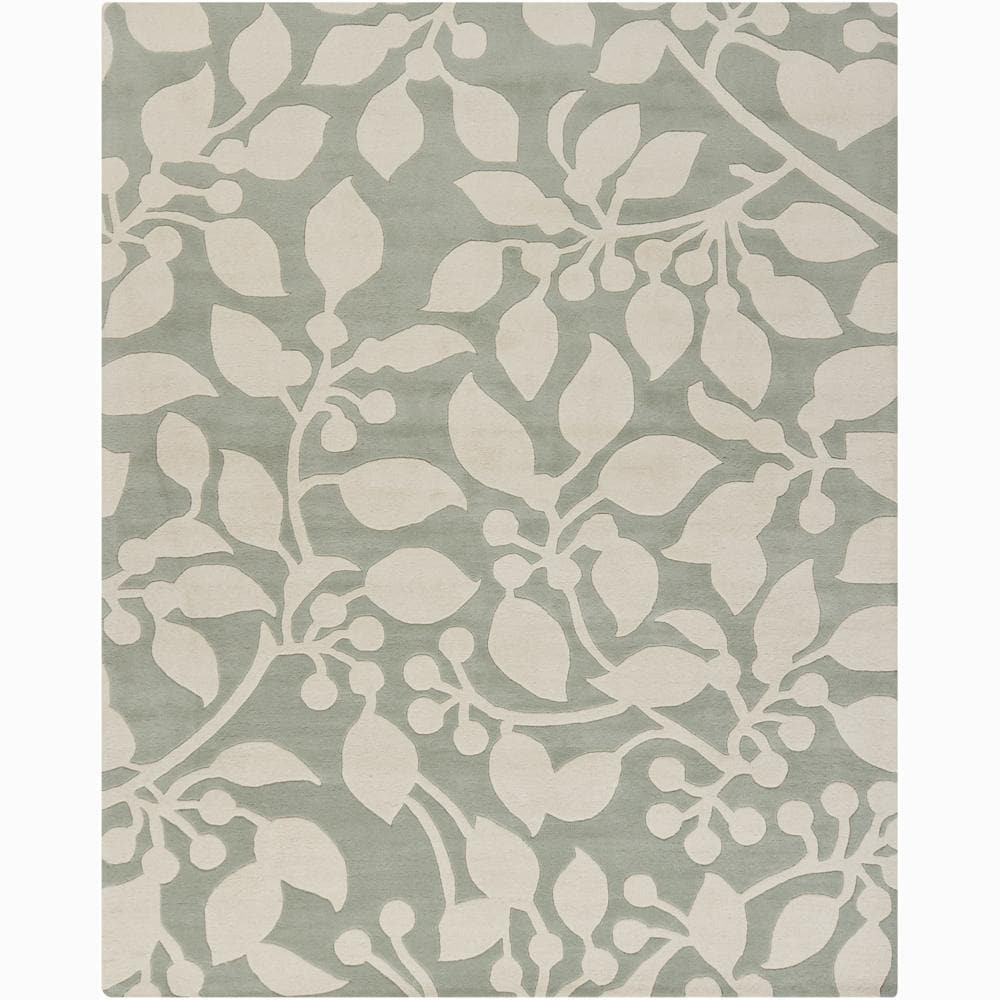 Artist's Loom Hand-tufted Transitional Floral Wool Rug (6'x9')