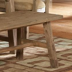 Nat Driftwood Acacia Wood Country 48-inch Dining Bench - Thumbnail 2