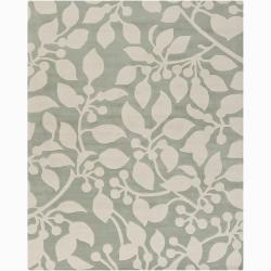 Artist's Loom Hand-tufted Transitional Floral Wool Rug (6'x9') - Thumbnail 0