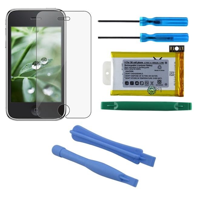 3-piece Battery/ Tools/ Screen Protector for Apple iPhone 3G