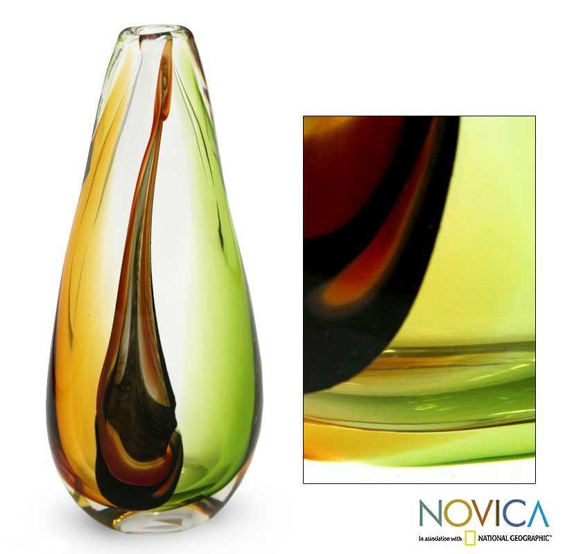Murano Glass 'New Life' Large Hand-blown Vase (Brazil)