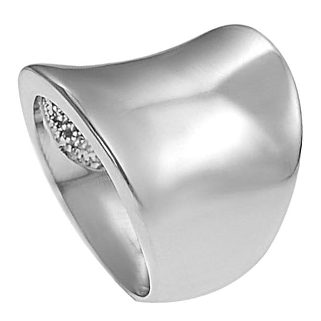 Silvertone Tapered Ring