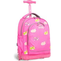 J World 'Candy' 17-inch Pink Rabbit Kids Rolling Backpack - Free ...