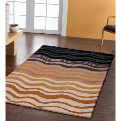 nuLOOM Handmade Moda Waves New Zealand Wool Rug (5' x 8') - Thumbnail 1