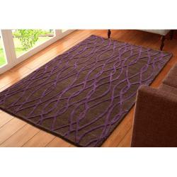 nuLOOM Handmade Moda New Zealand Wool Rug (7'6 x 9'6) - Thumbnail 1