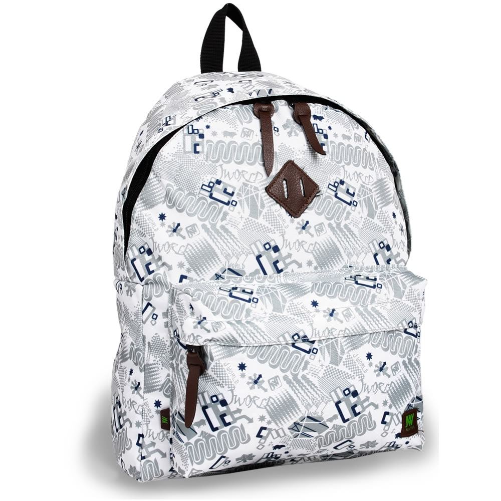 J World 'Kelley' White Blinker 16-inch Mini Day Backpack