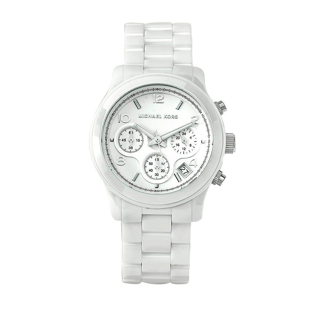 458fc64ec Shop Michael Kors Women's MK5161 Ceramic Watch - Free Shipping Today -  Overstock - 6002388