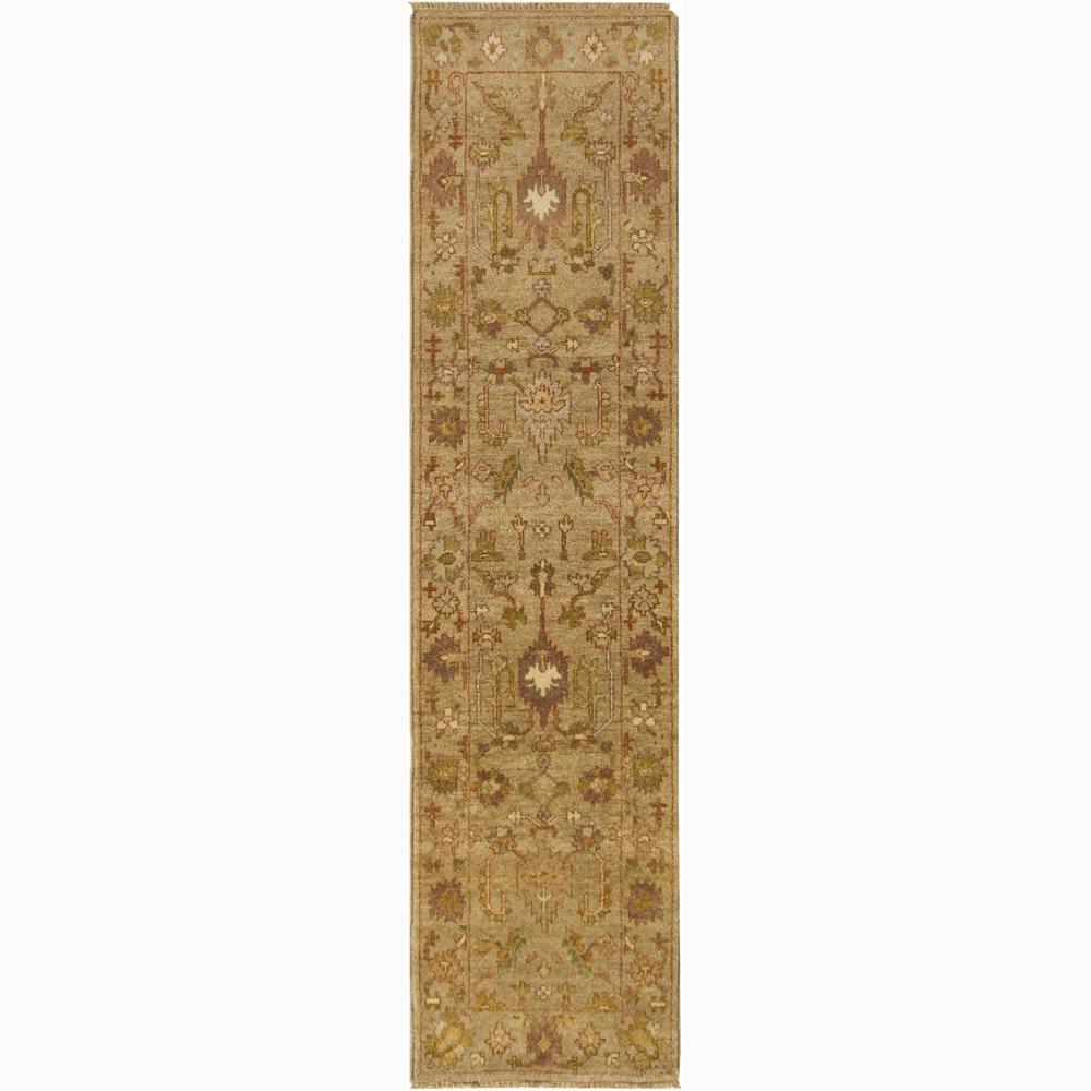 Hand-knotted Oriental Mandara Wool Rug (2'7 x 10'3)