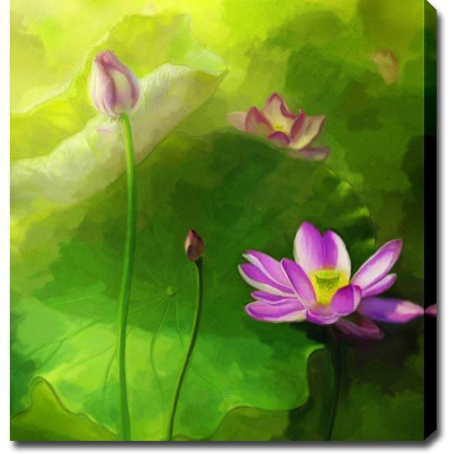 'Lotus Flower' Canvas Art