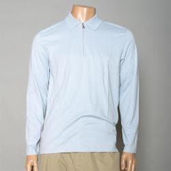 Calvin Klein Men's Zippered Long-sleeve Golf Polo