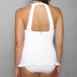 Jantzen Women's White 2-piece Halter Top Bikini - Thumbnail 2