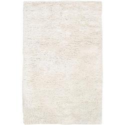 Hand-woven Jefferson Ivory Wool Rug (5' x 8')