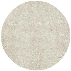 Hand-woven Jefferson Ivory Wool Rug (8' Round)