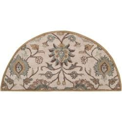 Hand-tufted Court Beige Wool Rug (2' x 4')