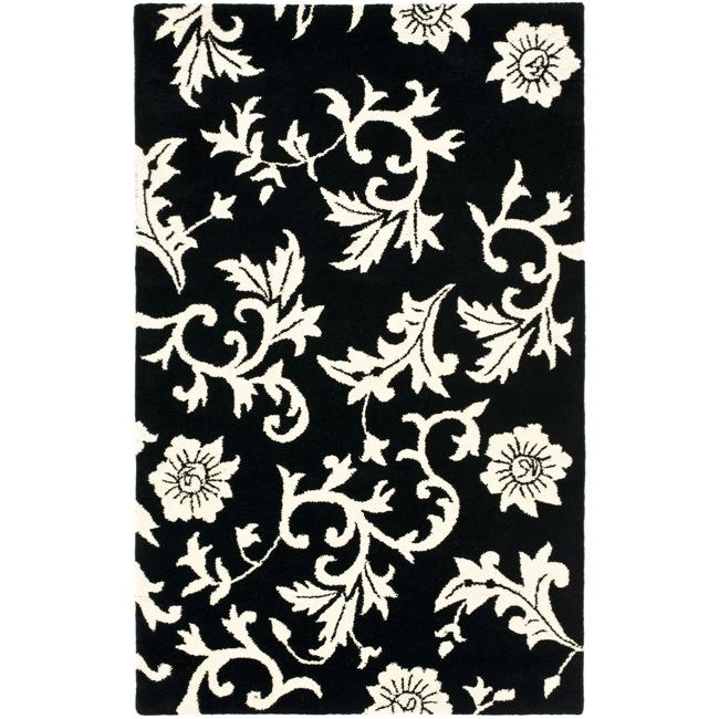 Safavieh Handmade Soho Sillo Black New Zealand Wool Rug (3'6 x 5'6')
