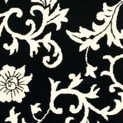 Safavieh Handmade Soho Sillo Black New Zealand Wool Rug (3'6 x 5'6') - Thumbnail 2