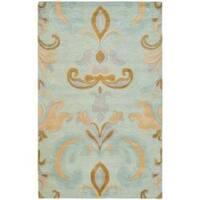 "Safavieh Handmade Soho Passage Light Blue N. Z. Wool Rug (3'6 x 5'6') - 3'6"" x 5'6"""